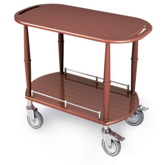 Lakeside 70524 Serving Cart-Spice