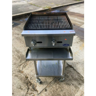 Atosa 24 inch Radiant Charbroiler with Equip Stand