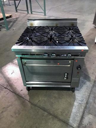 Montague 6 Burner Gas Range, w/Oven