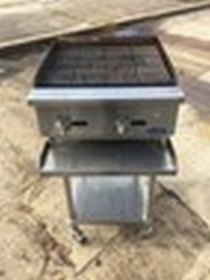 """Atosa 24"""" Radiant Charbroiler w/ Equip. Stand"""
