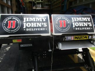 Lot of (5) Jimmy John's Magnetic Delivery Signs