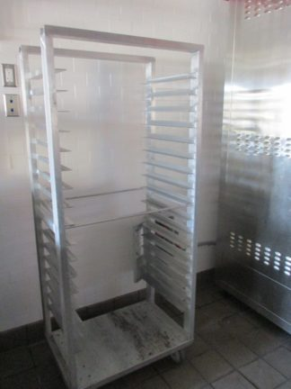 Lot of (2) Aluminum Bread Carts