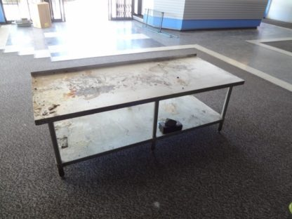 S/S Work Table w/Backsplash
