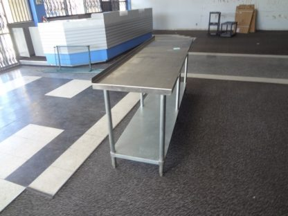 S/S Work Table w/Backsplash