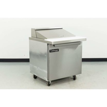 "Reconditioned Continental SW32-12M 32"" 1 Door Refrigerated Sandwich Prep Table"