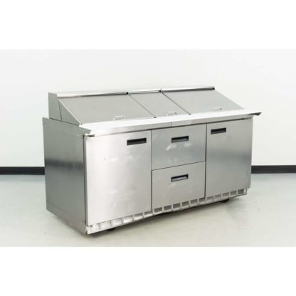 "Reconditioned Delfield 4472N-30M-07 72"" 2-Door, 2-Drawer Refrigerated Sandwich Prep Table"