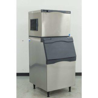 Reconditioned Scotsman C0530MA-1C 525 lb. Air Cooled Medium Cube Ice Machine w/B530S 536 lb. Bin