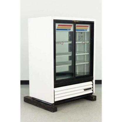Reconditioned True GDM-33CPT-54 Pass-Thru Glass Door Merchandiser Refrigerator