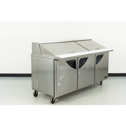 "Reconditioned Turbo Air TST-72SD-30 72"" 3 Door Mega Top Refrigerated Sandwich Prep Table"