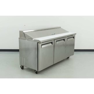 "Reconditioned Turbo Air TST-72SD 72"" 3 Door Refrigerated Sandwich Prep Table"