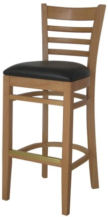 EC1 Natural Horizontal Wood Ladder Back Stool
