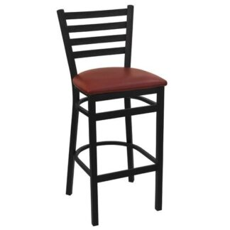 Black Economy EC17 Ladder Back Metal Stool