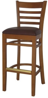EC5 Cherry Horizontal Wood Ladder Back Stool