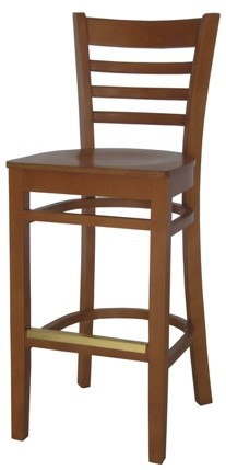 EC6 Cherry Horizontal Wood Ladder Back Stool