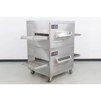 "Middleby Marshall PS220FS 21"" Double Deck Gas Conveyor Pizza Oven"