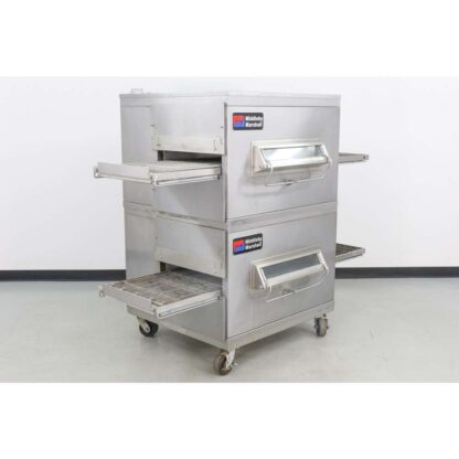 """Middleby Marshall PS220FS 21"""" Double Deck Gas Conveyor Pizza Oven"""