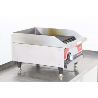 "APW Wyott Champion GCRB-18H 18"" Countertop Gas Charbroiler"