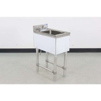 "BK Resources BKUBS-1014HSS12 21"" Underbar Dump Sink (Floor Model)"