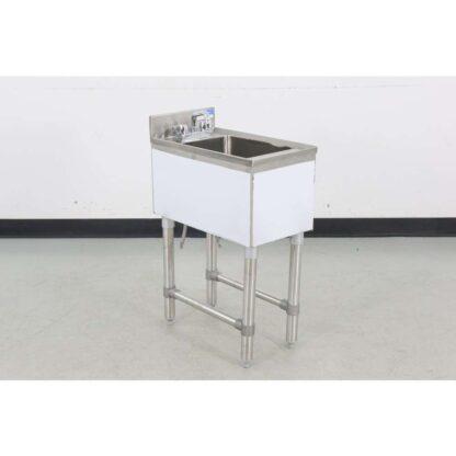 """BK Resources BKUBS-1014HSS12 21"""" Underbar Dump Sink (Floor Model)"""