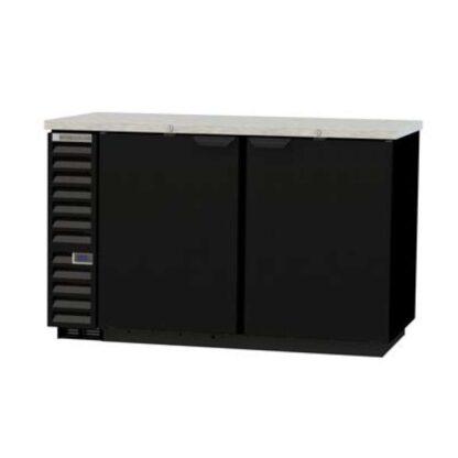 "Beverage-Air BB58HC-1-B 59"" 2-Door Black Steel Back Bar Cooler"