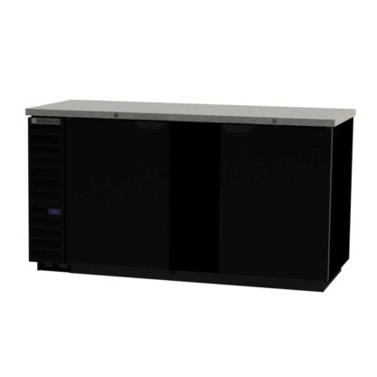 "Beverage-Air BB68HC-1-B 69"" 2-Door Black Steel Back Bar Cooler"