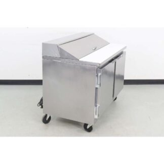 "Beverage Air SP48-12 48"" 2 Door Refrigerated Sandwich Prep Table"