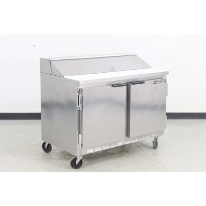 "Beverage Air SP48-12 48"" 2 Door Refrigerated Sandwich Prep Table"
