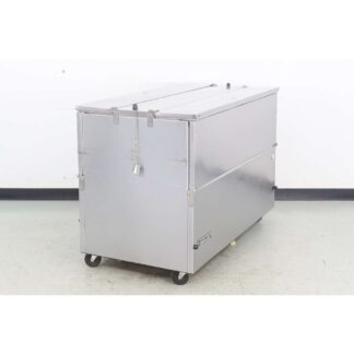 "Beverage Air ST58N 58"" Stainless Steel Dual Sided Flip Top Milk Cooler"