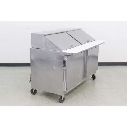 "Beverage Air SP60-24M 60"" 2 Door Refrigerated Sandwich Prep Table"
