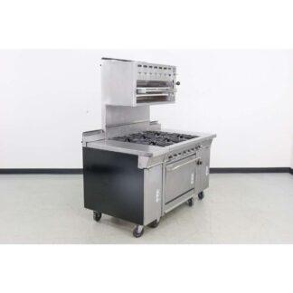 """Montague company 36-5-SB36 60"""" 6 Burner Standard Oven Gas Range w/Salamander"""