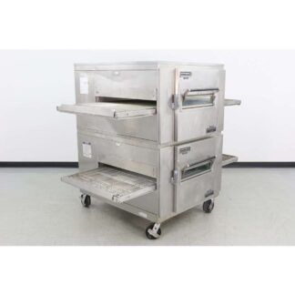 "Reconditioned Lincoln 1000 32"" Double Deck Gas Conveyor Pizza Oven"