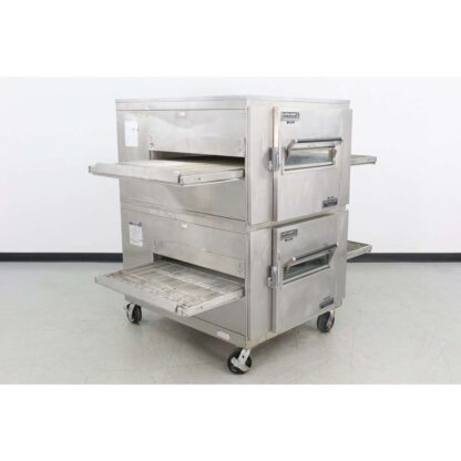 """Reconditioned Lincoln 1000 32"""" Double Deck Gas Conveyor Pizza Oven"""