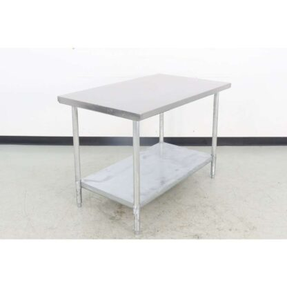 "Stainless Steel 30"" x 48"" Work Table"