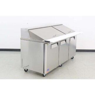 """Turbo Air MST-72-30-N 72"""" 3 Door Mega Top Refrigerated Sandwich Prep Table"""