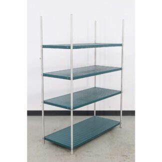 "21"" x 48"" Solid Green 4 Tier Shelving Unit"