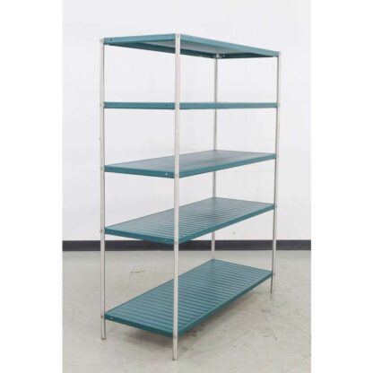"21"" x 54"" Solid Green 5 Tier Shelving Unit"