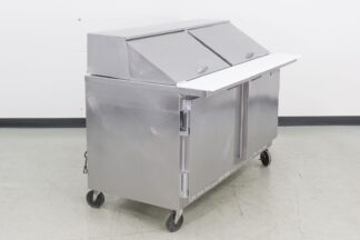Beverage Air SP60-24M 60 2 Door Refrigerated Sandwich Prep Table-
