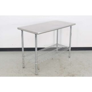 "Stainless Steel 24"" x 50"" Work Table"