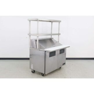 "True Manufacturing TSSU-48-18M-B 48"" 2 Door Mega Top Sandwich Prep Table"