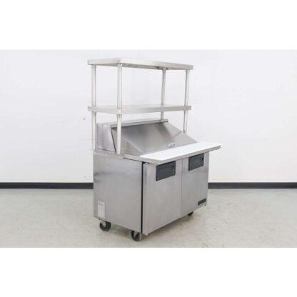 "True Manufacturing TSSU-48-18M-B 48"" 2 Door Mega Top Sandwich Prep Table"