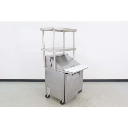 "True TSSU-27-12M-C 27"" 1 Door Mega Top Refrigerated Sandwich Prep Table w/Overshelf"