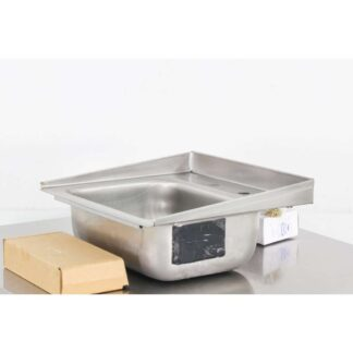 "Advance Tabco DI-1-30 16"" x 15"" Stainless Steel Wall Mounted Sink"