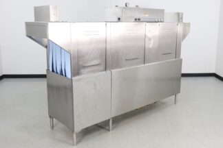 "Hobart CRS86A 105"" Dual Tank High Temp Conveyor Dishwasher"