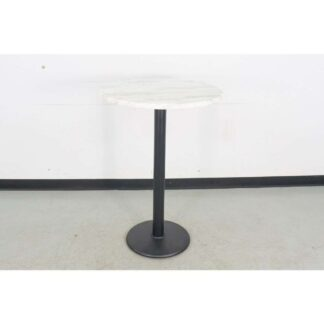 "JustChair Manufacturing TTDC18-30R GR1-QS 30"" x 30"" Round Indoor Table w/Round Base"