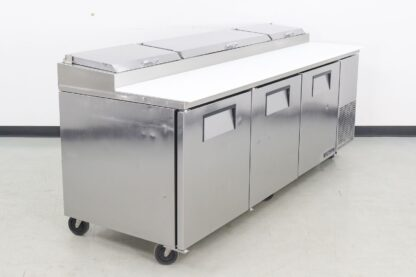 True Manufacturing TPP-93 3 Door Refrigerated Pizza Prep Table