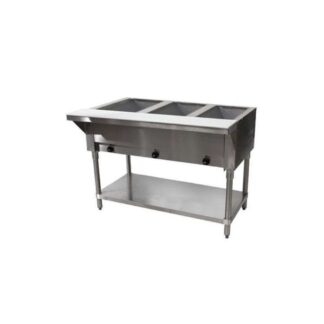 "Advance Tabco HF-3E-240-X 47"" 3-Well Electric Steam Table"
