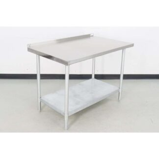 "BK Resources VTTR-4830 30"" x 48"" Stainless Steel Work Table w/Backsplash"