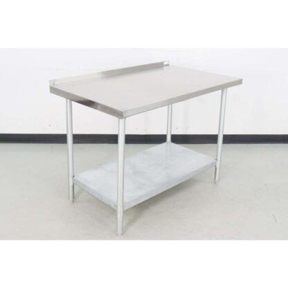 "BK Resources VTTR-4830 30"" x 48"" Stainless Steel Work Table w/Backsplash"