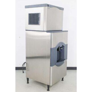 Scotsman CO330SA-1B 400 lb. Air Cooled Small Cube Ice Maker w/HD30W-1H 180 lb. Ice & Water Dispenser