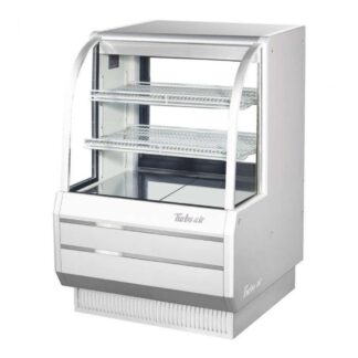 """Turbo Air TCGB-36DR 36"""" Curved Glass Dry Bakery Case"""